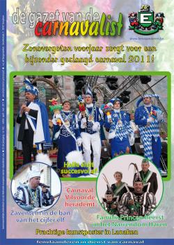 Gazet van de Carnavalist - april 2011