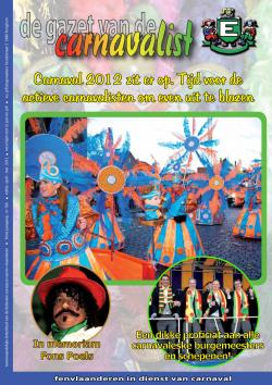Gazet van de Carnavalist - april 2012