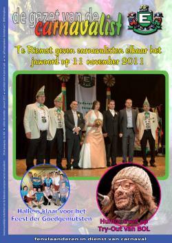 Gazet van de Carnavalist - december 2011