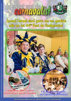 Gazet van de Carnavalist - februari 2016