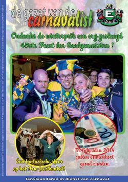 Gazet van de Carnavalist - februari 2017