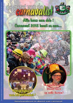 Gazet van de Carnavalist - oktober 2017