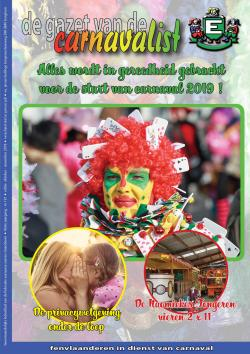 Gazet van de Carnavalist - oktober 2018